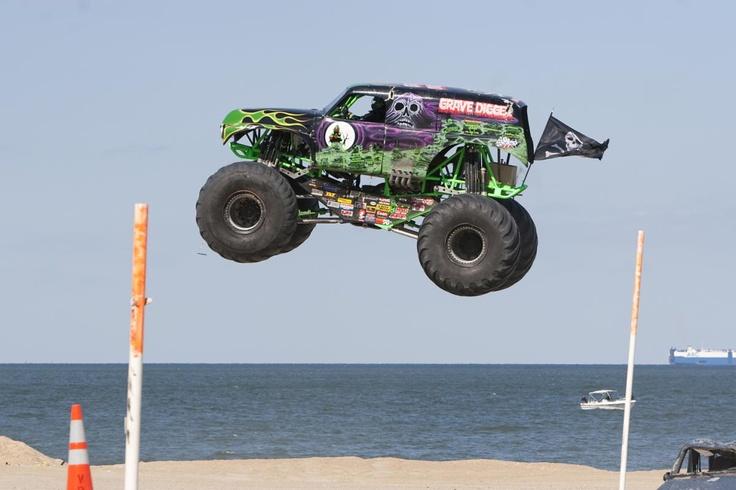 <3 monster trucks on the beach