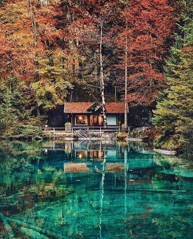 Lake Blausee, BE Switzerland                                                                                                                                                     More