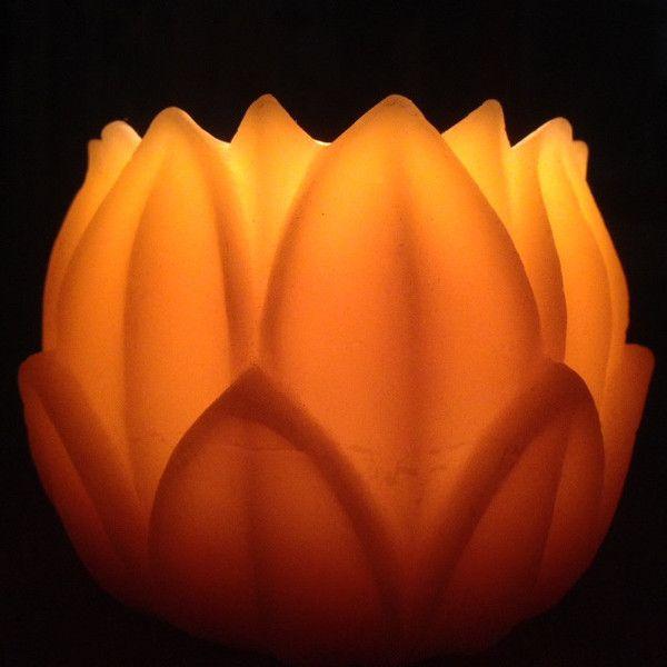 Beeswax Large lotus/ water lilly wax lantern luminary.