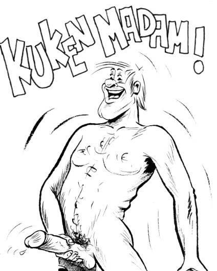 tecknad penis