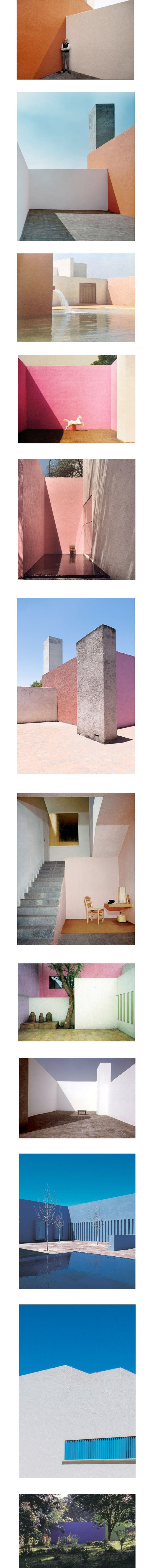 Luis Barragan, architecte mexicain (1902-1988).