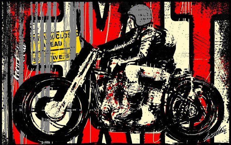 les 57 meilleures images du tableau peinture acrylique pop art balestra art moto sur pinterest. Black Bedroom Furniture Sets. Home Design Ideas
