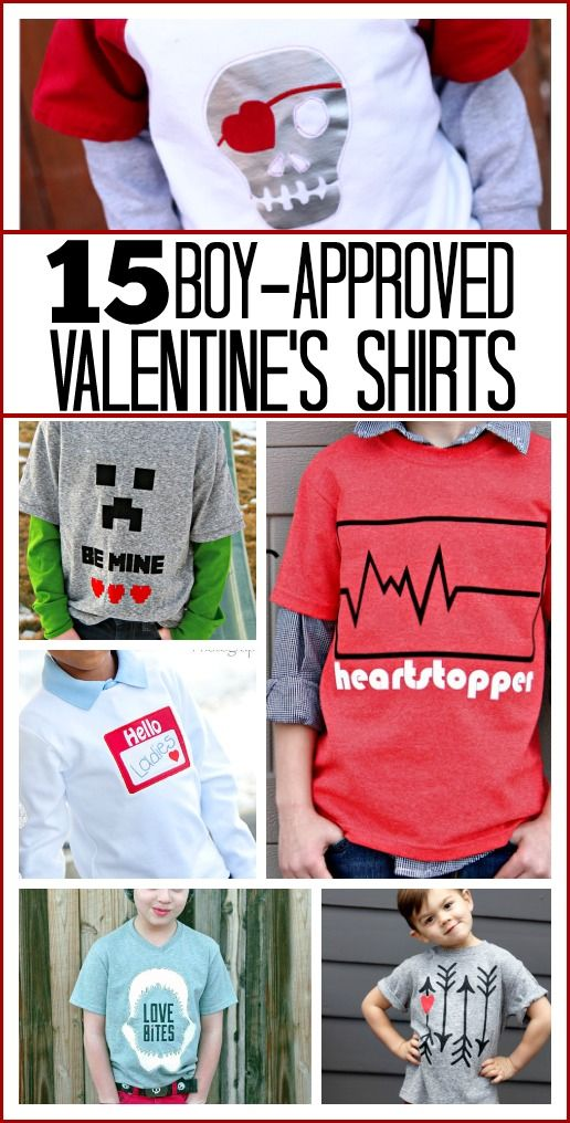 Boy's Valentine Shirts - Sugar Bee Crafts