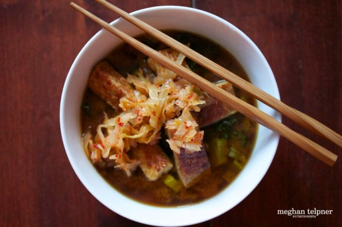 Fast and easy miso power soup