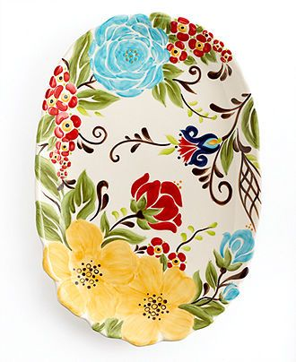 Vida Espana dinnerware, Jardine platter. I love mine!