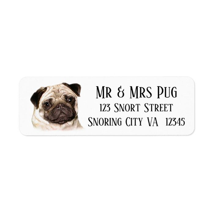 Pug Dog Address Labels Label Zazzle Com Pugs Address Labels
