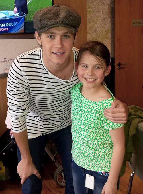 Niall at a Rugby Match today...