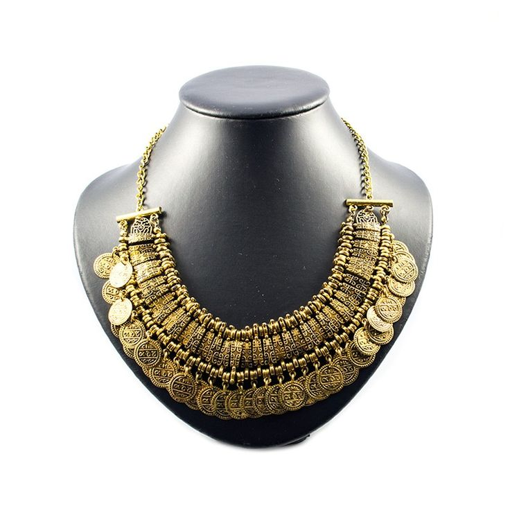 """Statement ketting """"Gold Coins"""""""