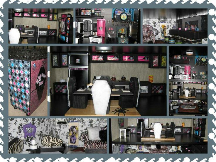 a pic of all the monster high doll house rooms what the
