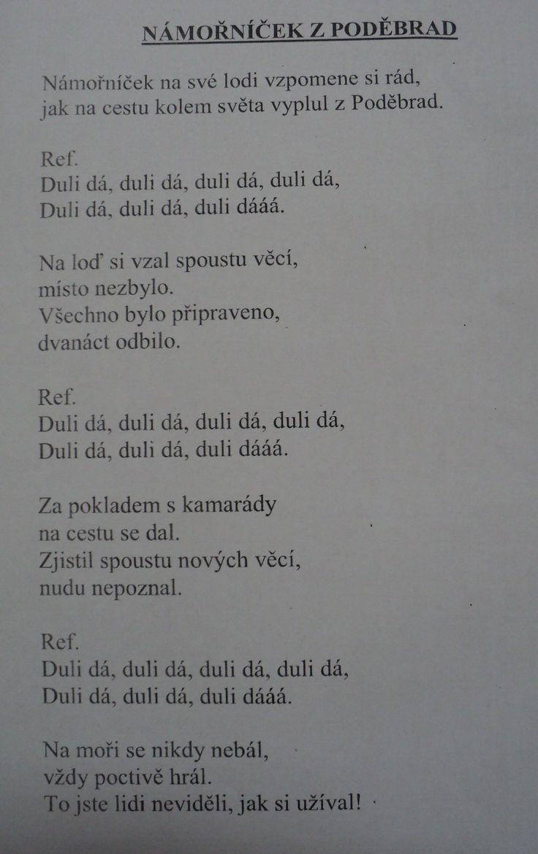 Námořníček z Poděbrad - naše námořnická písnička
