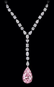 Pink diamond necklace, Graff