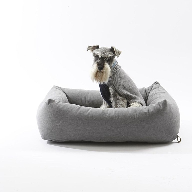 Bolster Dog Bed Grey Small