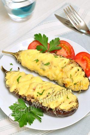 Рецепт: Баклажаны, фаршированные мясом