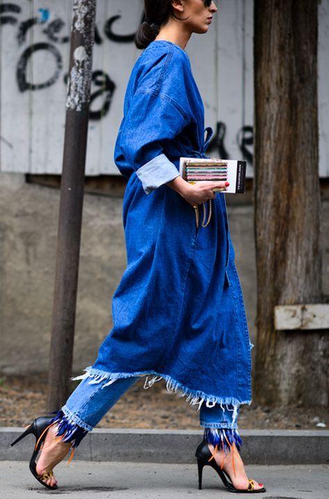 The Fashion Magpie // Frayed denim trend.