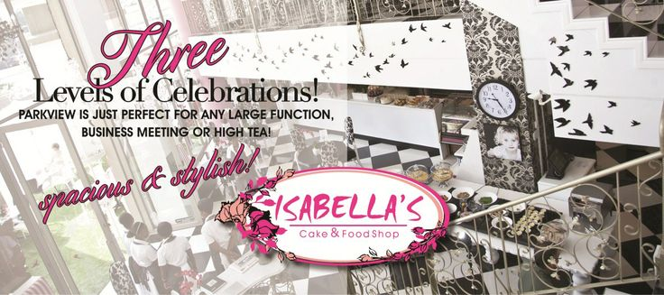 A private balcony along with a super stylish function room...what more could you ask for?  Whether you are hosting a wedding, a high tea or a private party, contact Angelique at Isabella's Parkview today to find out more about our stunning function venue!  parkview@isabellas.co.za or 071 067 5705