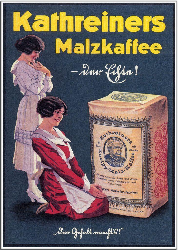 From £2.95 KATHREINERS MALZKAFFEE 1911 - Germany - Vintage Coffee Advertisement