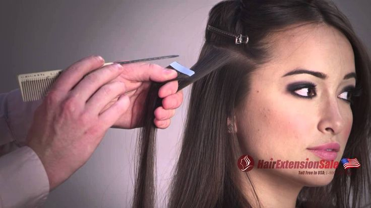 How To Apply Tape In Hair Extensions, Seamless and professional Tutorial /www.HairExtensionSale.com