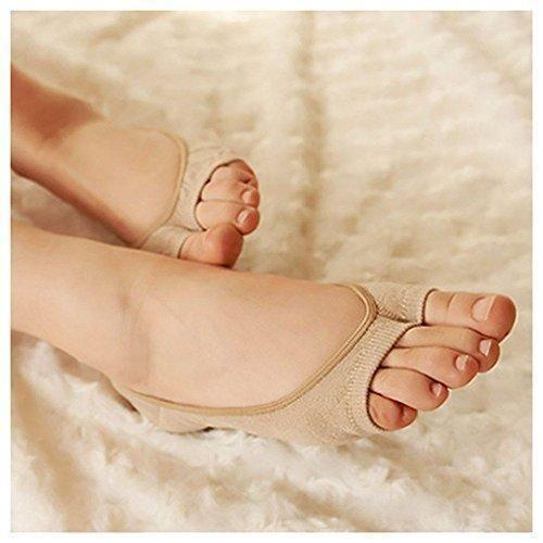 Oferta: 2.25€. Comprar Ofertas de HuntGold invisibles calcetines corto de abiertas del dedo del pie zapatos para Mujeres Chica color nude barato. ¡Mira las ofertas!