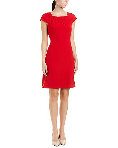 9132264a9026 Tahari ASL Shift Dress at Rue, 30 Dec 17. $59.99, MSRP $128. Final sale.  Color/pattern: lipstick red. Approximately 37in from shoulder to hem.