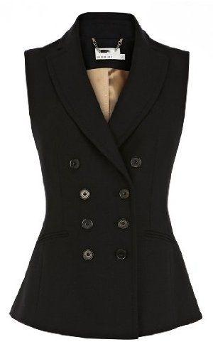 Karen Millen Tailored Wool Waistcoat : Coats & Jackets