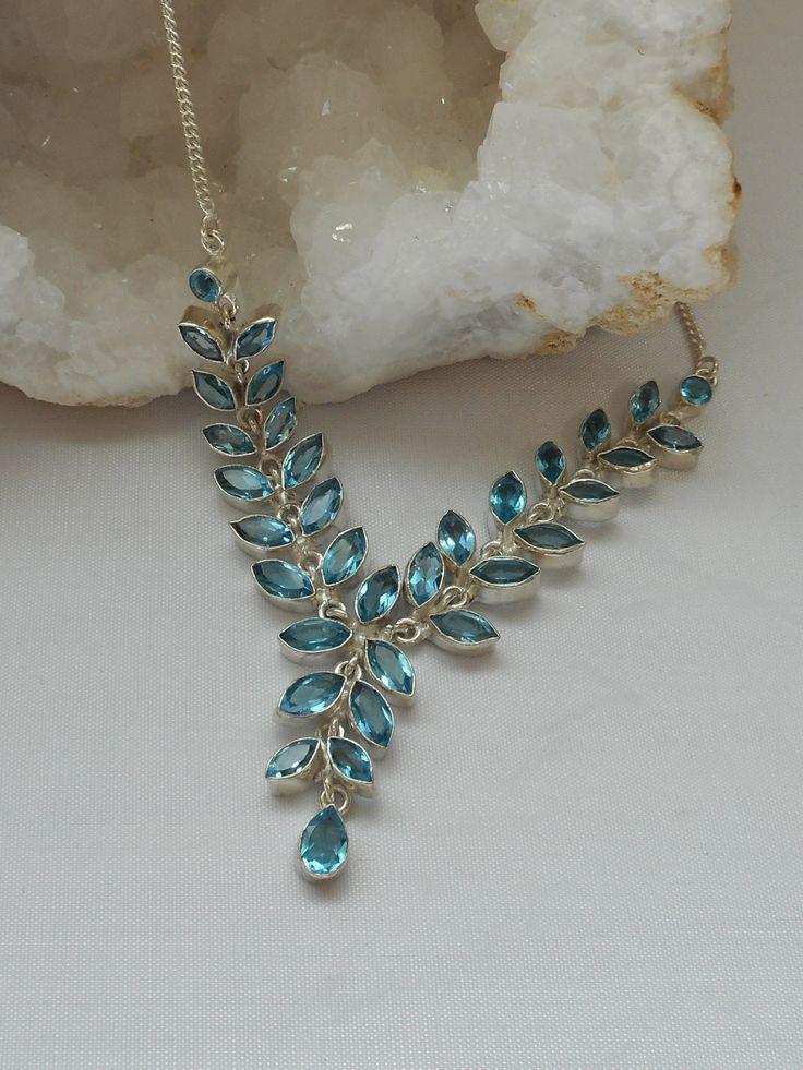 Delicate Blue Topaz Necklace 1