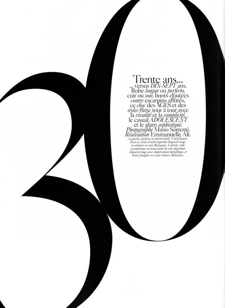 Vogue Paris Typography. Miller banner.