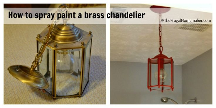 How to spray paint a brass light fixture-- this might be cool, in yellow