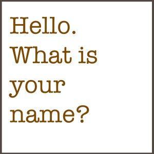 """#Insegna #inglese - #I libri di inglese -la frase, """"What is your name?""""  and """"My name is…""""Visita il sito per scaricare gratis uno stampabile PDF oppure segue il link sul sito per ebook.  Perfetto per il telefono!"""