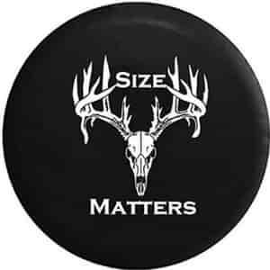Size Matters Deer Antlers Spare Jeep Wrangler Tire Cover Tire