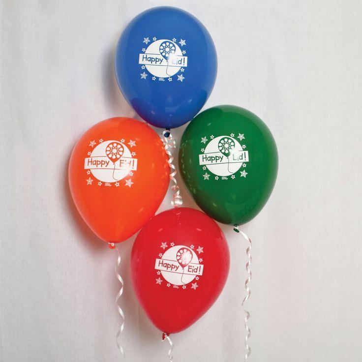 Party Souq - Flying High Eid Latex Balloons|12 pcs, $ 21.00
