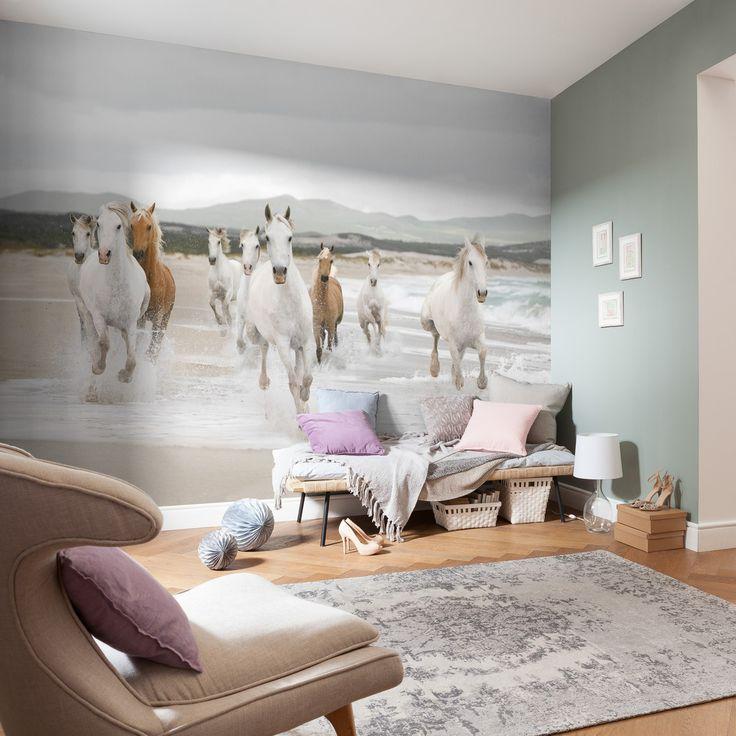 White Horses - Børnemotiver - Tapetkunst.dk