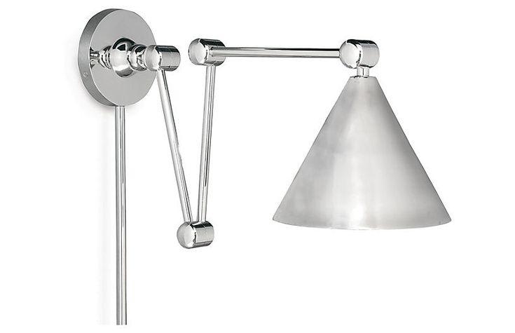 Plug-In Zig-Zag Wall Sconce - Nickel - Regina Andrew Design