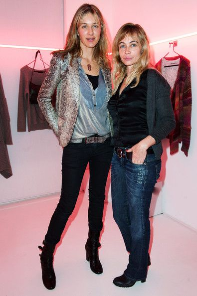 Emmanuelle Beart and Cecilia Bonstrom attend the Zadig & Voltaire Ready-To-Wear Fall/Winter 2012