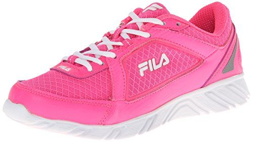 Fila Womens Finest Hour 4 Running Shoe Neon PinkWhiteDark Silver 85 M US >>> You can find more details by visiting the image link.