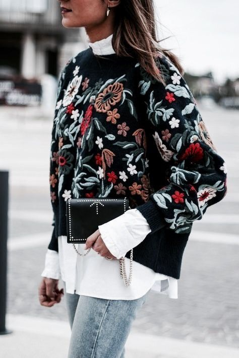 Chic embroidered cardigan