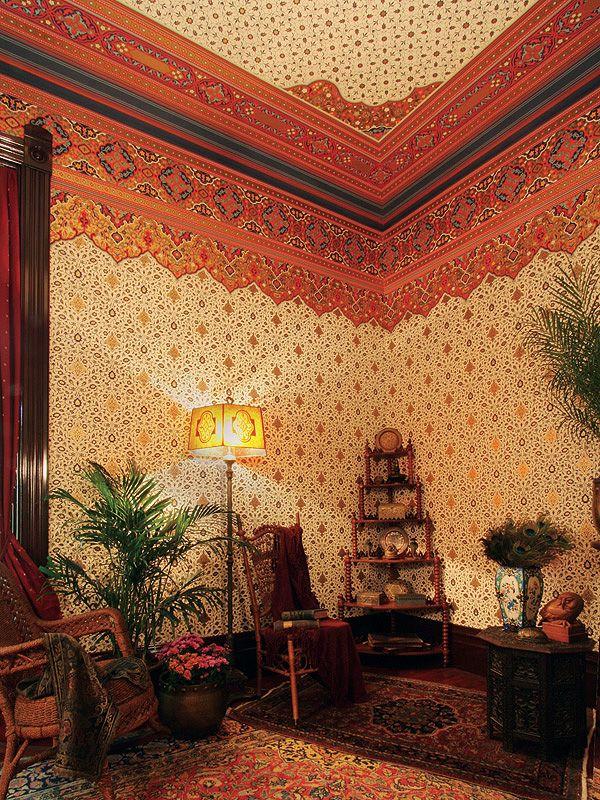 Persian Eastern Style Art Wallpapers as seen on the HBO series Boardwalk Empire | Bradbury & Bradbury