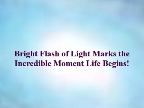 Life Begins with Bright Flash of Light, Sparks and Fireworks