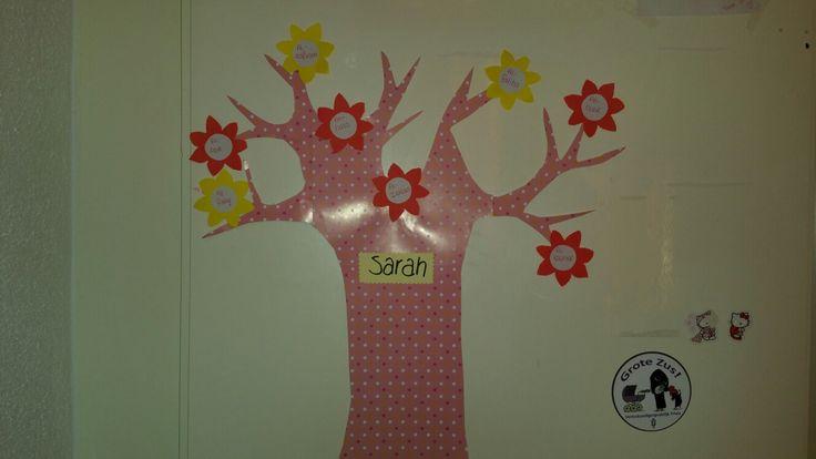 Surah die ze kennen plakken in hun boom in de vorm van een bloem/appel. Erg motiverend voor de Kids!