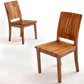 sustainable woods are handcrafted into a unique wooden dining chair that is sustainable and stylish