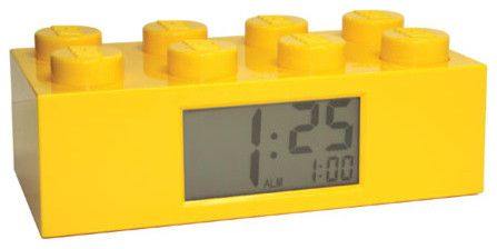 Lego Brick Alarm Clock - eclectic - clocks - Fat Brain Toys. So cool for Aaron's room!