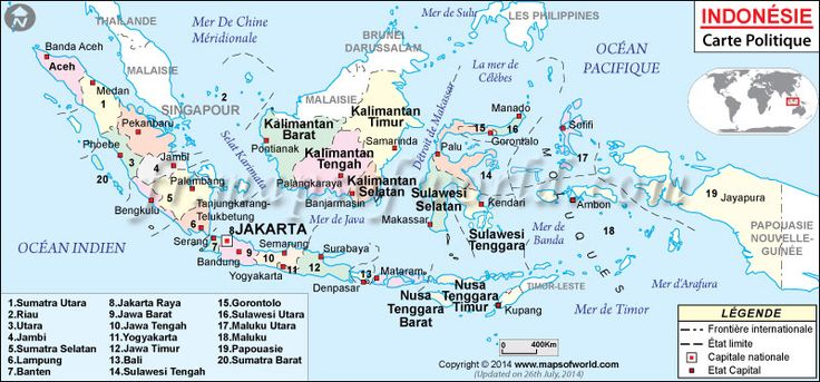 Indonésie Carte