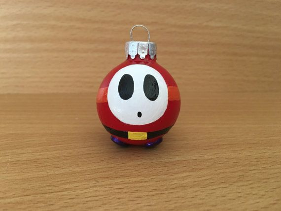 Mario Shy Guy Ornament by ABitofImagination on Etsy