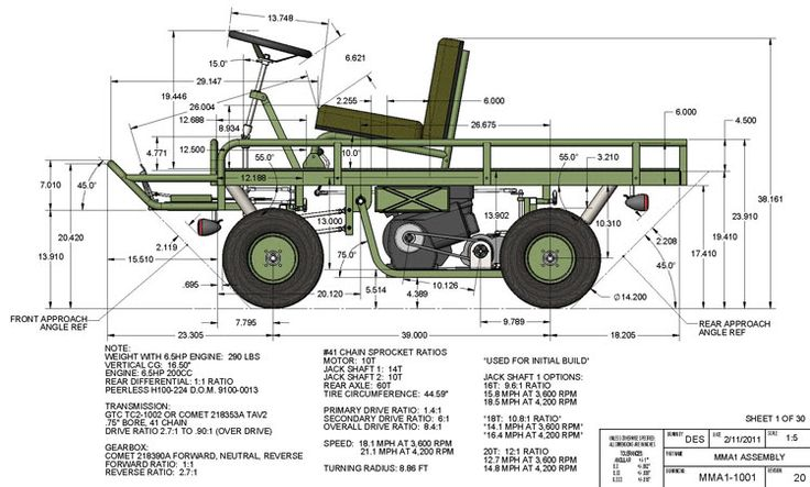 M274 Mule Blueprints | M274 military mule half scale home build