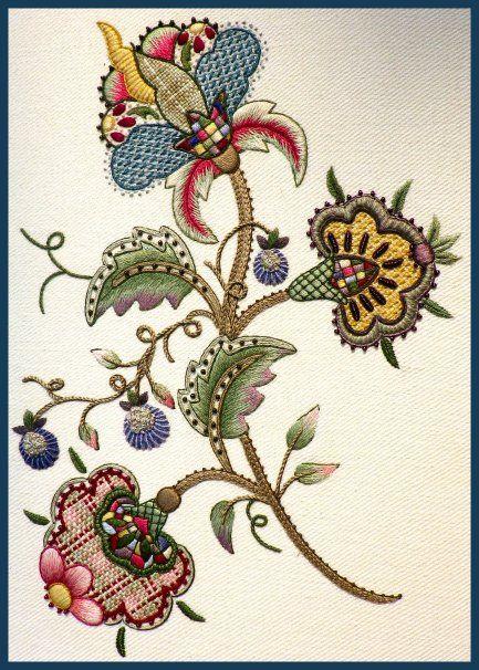 Best stitch me jacobean motifs images on pinterest