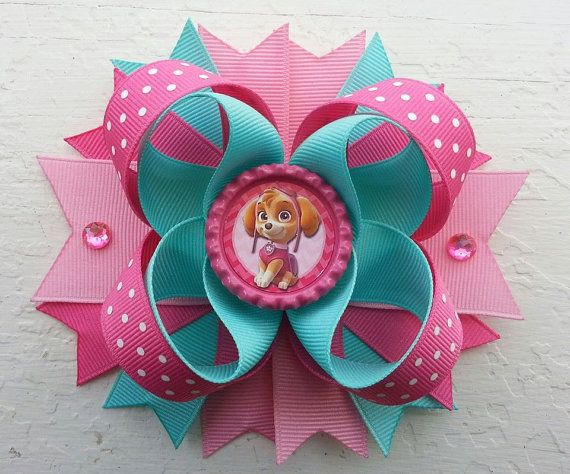 Hey, I found this really awesome Etsy listing at https://www.etsy.com/listing/194077945/paw-patrol-skye-inspired-hair-bow-paw