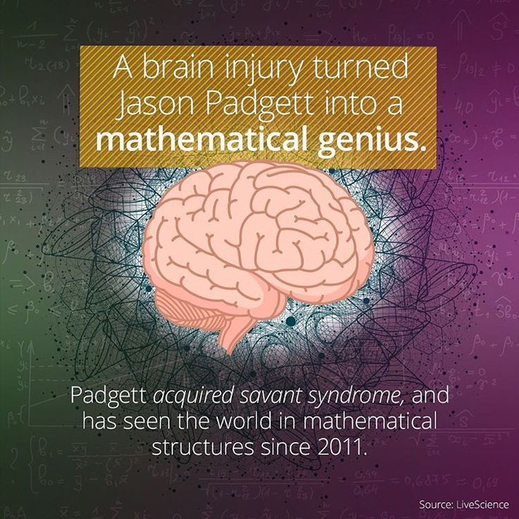 Getting a #concussion is almost always a #tragic incident. But in the case of a handful around the #world, a #brain #injury has resulted in acquired #savant #syndrome—the acquisition of often #prodigious abilities following brain #trauma. Jason Pradgett suffered a brain injury in 2002, and since then become a #mathematical #genius. He claims to see everything in mathematical structures. He is one of the only people on Earth who can #drawapproximations of #fractals by hand. #prodigy…