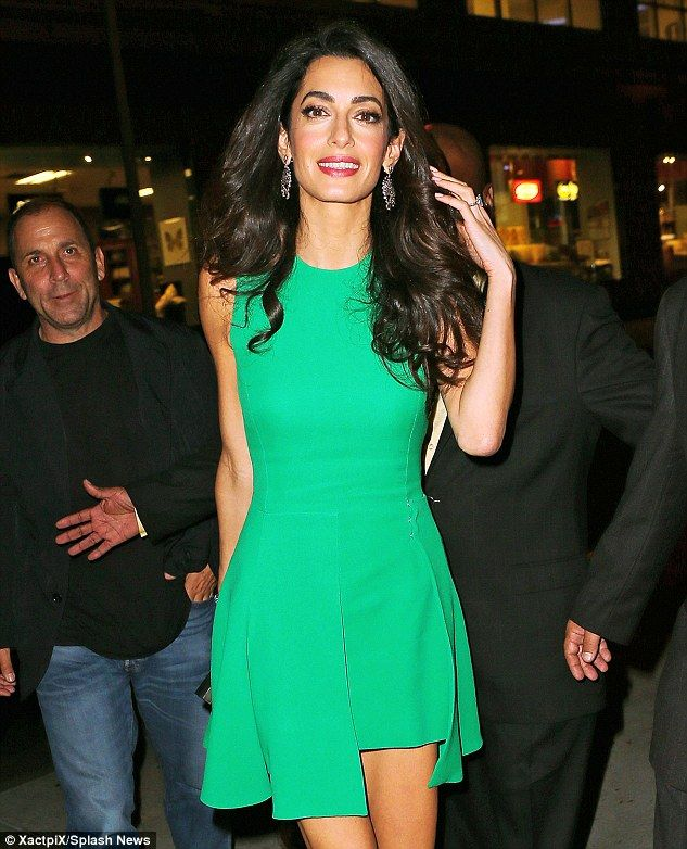George and Amal Clooney glow as they attend New York Film Festival #dailymail