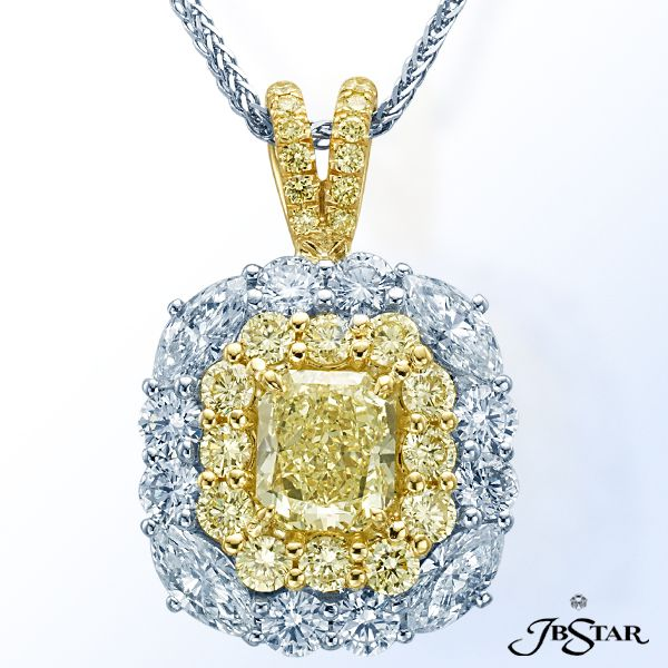 45 best diamond fancy color diamond pendants images on pinterest style 2473 natural fancy yellow diamond necklace featuring a 185 ct radiant fancy light yellow diamond mozeypictures Image collections