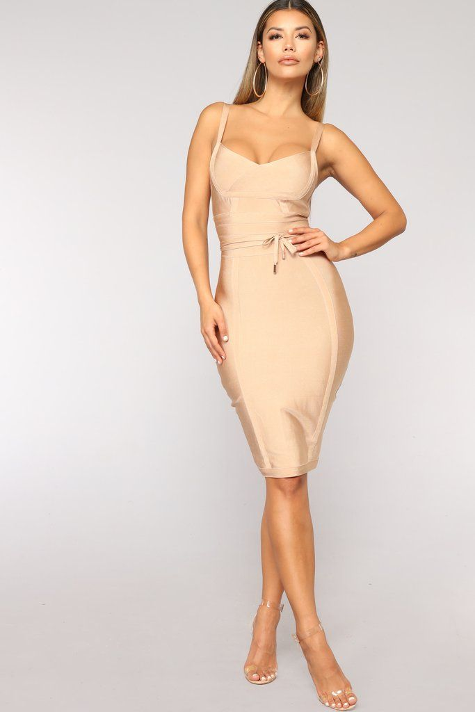 771bfeb904 Valencia Bandage Dress - Nude