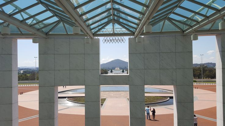 Parliament House Canberra looking towards the National War Memorial